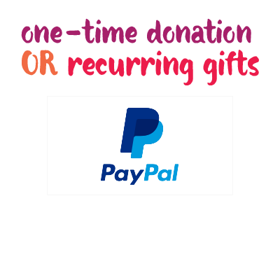 Click or tap to give via PayPal.